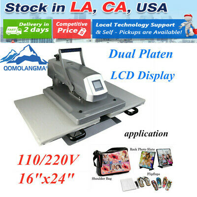 16x24sublimation Heat Press Machine Double Working Station Manual Dual Platen