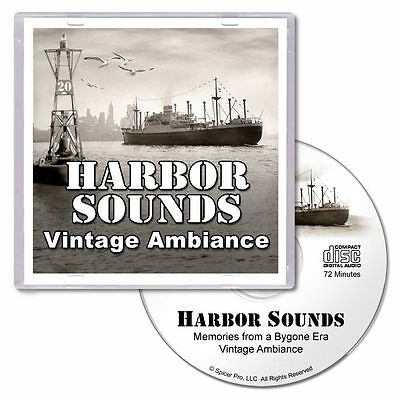Harbor Sounds CD - Nostalgic Ambiance with Waves Seagulls Boats Tugs Whistles