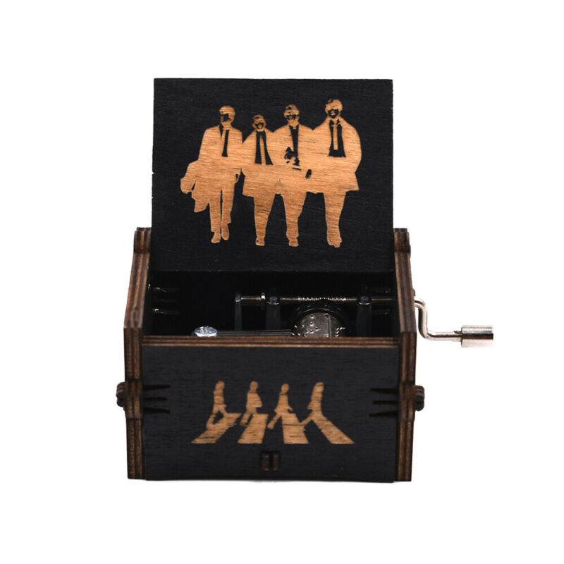 The Beatles Hand Crank Wooden Music Box Christmas Souvenir Gifts New Year Gifts