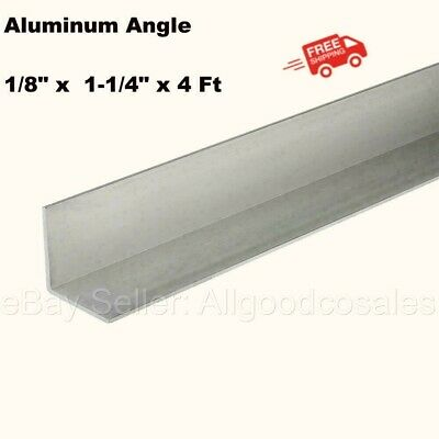 Aluminum Angle 18 X 1-14 X 4 Ft Length Unpolished Alloy 6061 90 Stock