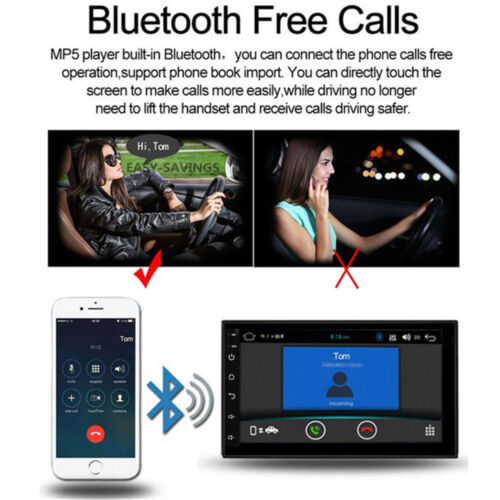 Android 8.1 Car Stereo GPS Navigation Radio Player Double Din WIFI 7