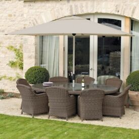 Royal Kensington 10 Piece Ellipse Garden & Conservatory Dining Set