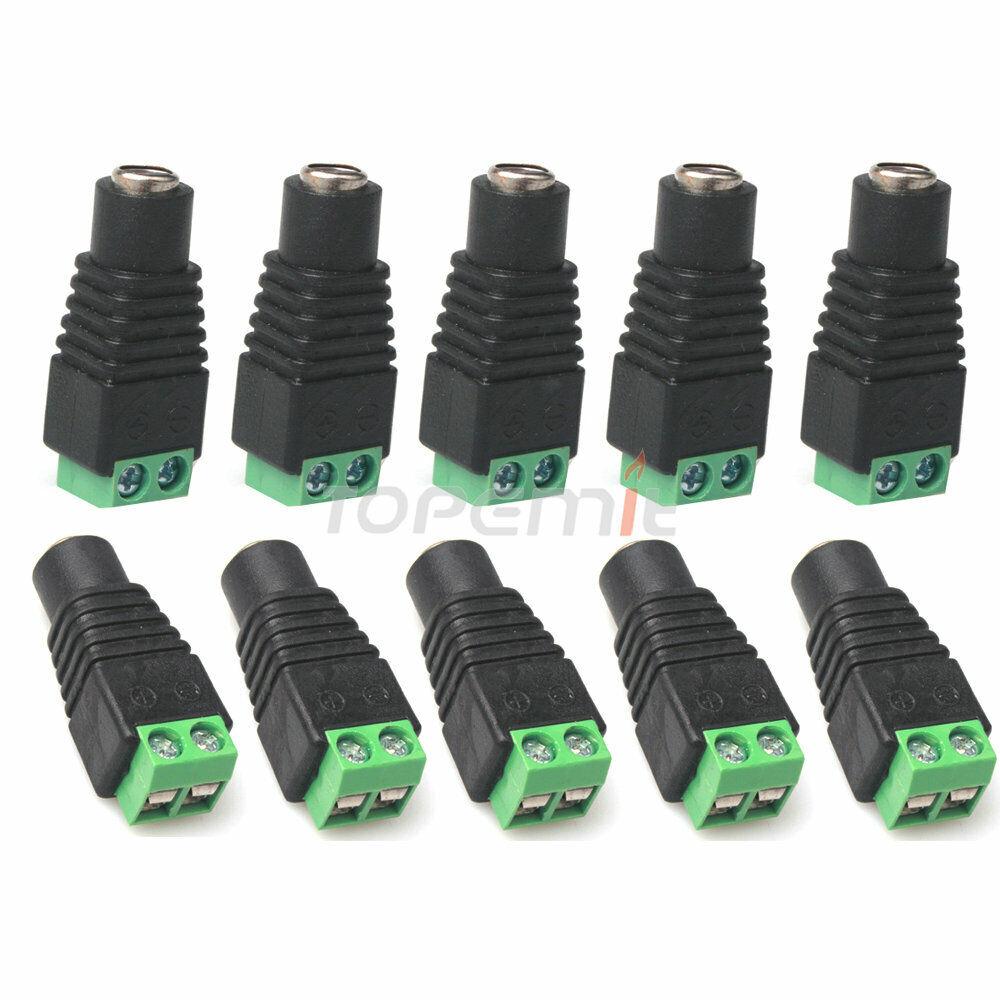 Generic 20 Pack 2.1 X 5.5mm CCTV camera DC Power Female Jack Connector Plug for CCTV Camera