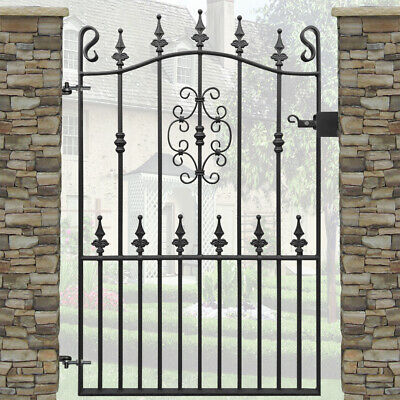 Safety Spear Garden Gate Wrought Iron Metal Steel Gates | 3ft Opening | 4ft High
