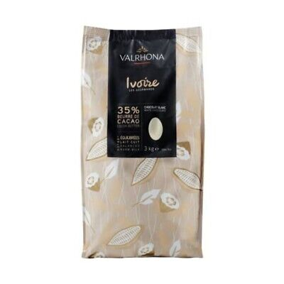 Valrhona Ivoire 35% White Couverture Chocolate Feves