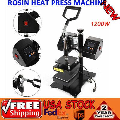 5 Manual Rosin Press Heat Press Machine Dual Heating Elements Swing-arm 1200w