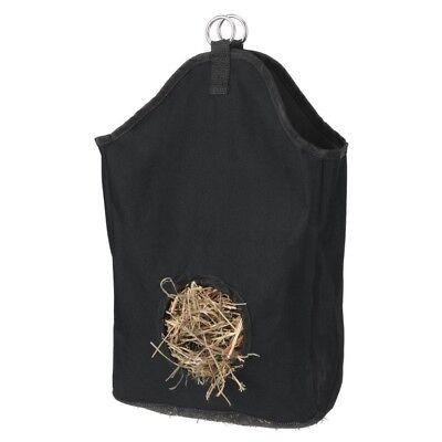 Nylon Hay Net - Tough-1 Miniature Hay Net Nylon with Rings for Hanging Horse Feeding Black