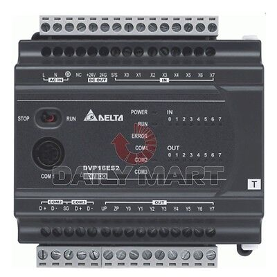 Delta Dvp16es200r Plc 100-240vac 8di 8do Relay Output New In Box Free Ship