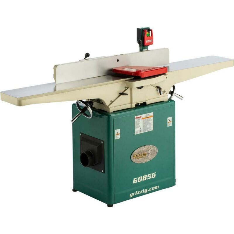 """Grizzly G0856 8"""" x 72"""" Jointer with Helical Cutterhead & Mobile Base"""