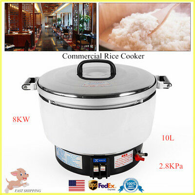 10l Commercial Rice Cooker Natural Gas Food Cooker Warmer For 50-60people 2.8kpa