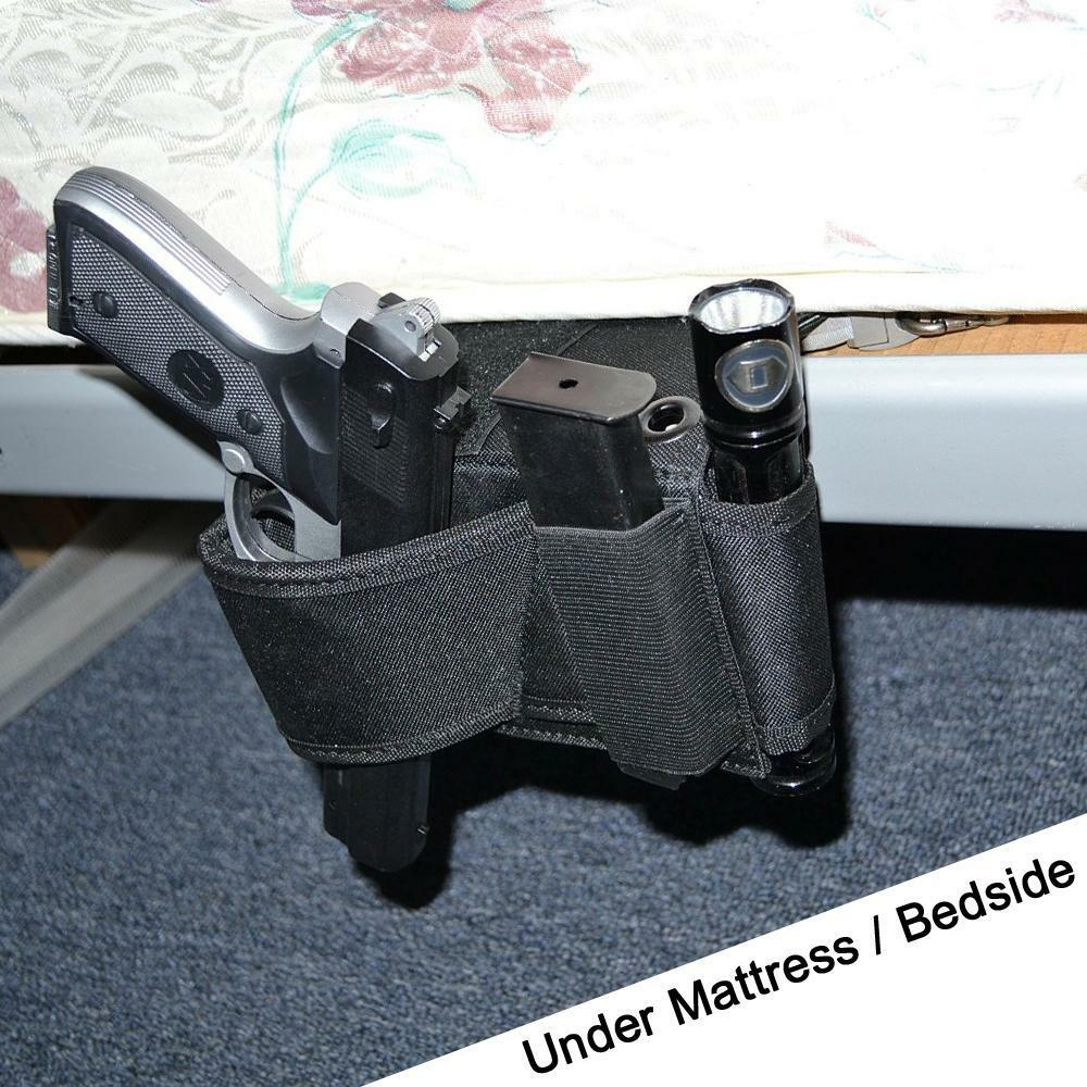 Concealed Under Car Seat Pistol Holster Wall Mount Bedroom