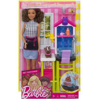 Barbie Pet Groomer Station Doll Dog Play Set Accessories Dog Grooming Room NEW