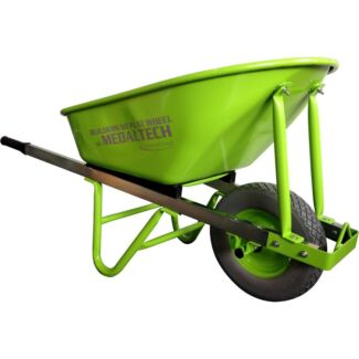 100L builders wheelbarrow heavy duty steel tray 90mm no flat  Miller Liverpool Area Preview