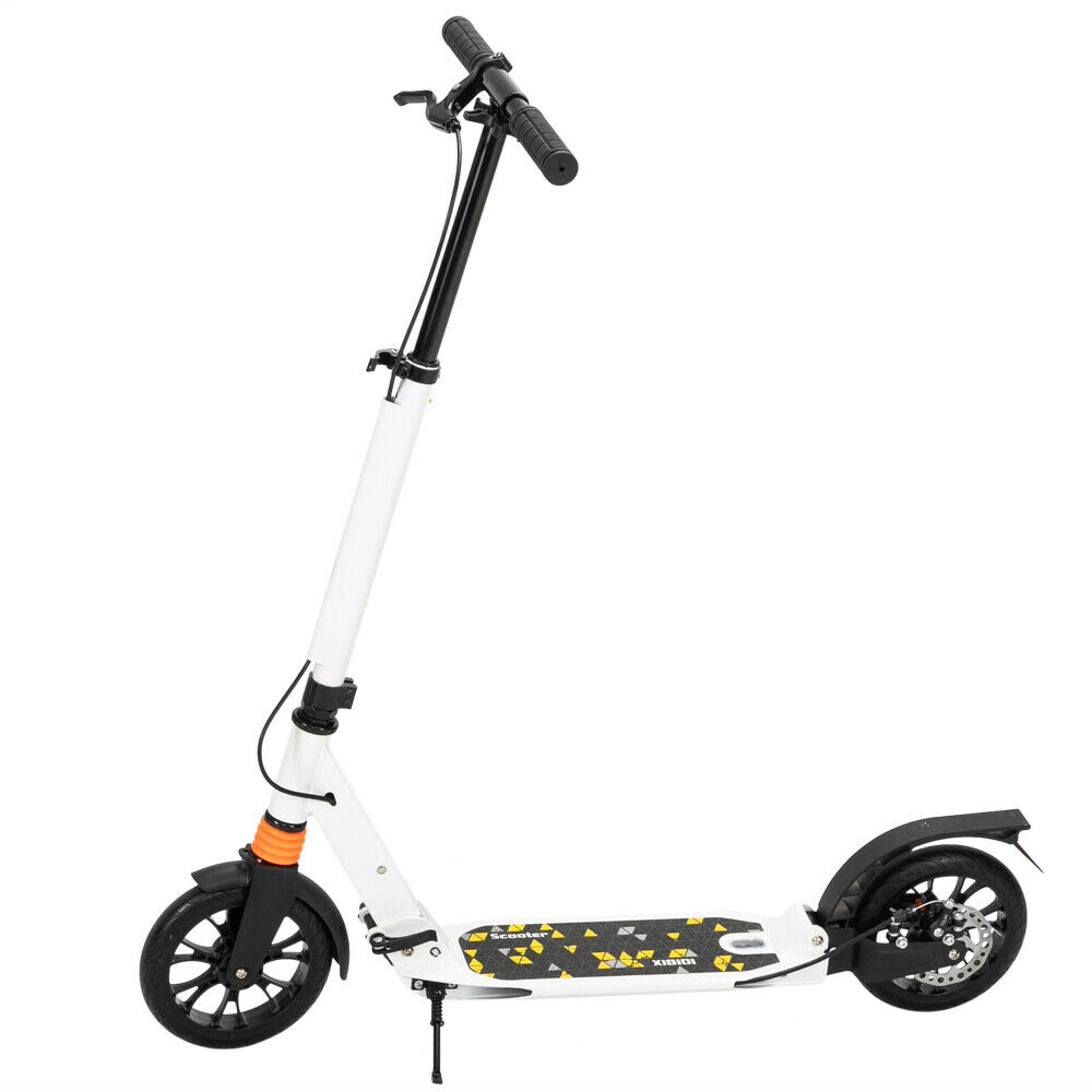 Adult Teens Folding Pedal Scooter 3 Height Adjustable Double