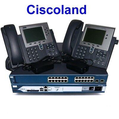 Cisco CCNA Voice Collaboration Lab Kit 2811 256D/128F CME 8.6 + 3560-PS + 2x7940
