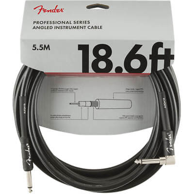 Fender Professional Series Instrument Cable, Straight/Angle, 18.6' - Black