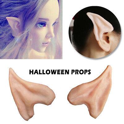Halloween Latex Costume Prosthetic Elf Fairy Ear Tip Hobbit Vulcan Spock Cosplay](Halloween Costume Elf)