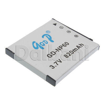 GD-NP60 New Rechargeable Camera Battery 3.7V 820 mAh for Casio