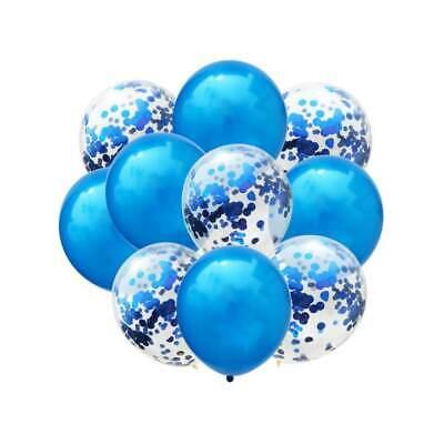 Konfetti Luftballon Set Geburtstag Party Baby Shower Hochzeit Deko Ballons Blau