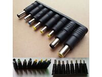 Hot 8pcs Universal Portable Notebook Converter Connector AC/DC Charger Adapter