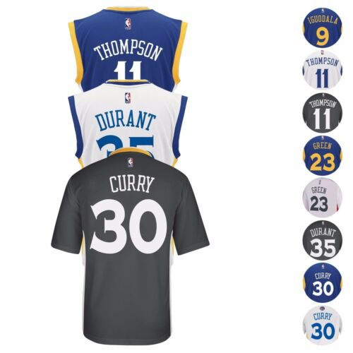2827769bc62 2016-17 Golden State Warriors ADIDAS NBA Replica Player Jersey ...