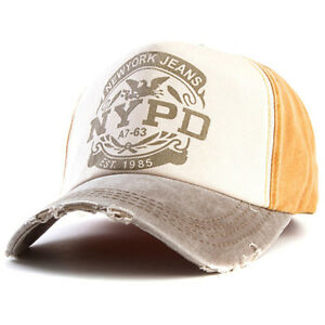 New Women Men Unisex Baseball Cap Fit Fitted Hat NYPD Cap Cotton Adjustable
