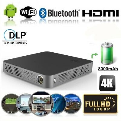 Portable Handheld 5500 Lumens Android DLP 4K HD Home Theater Projector Wifi HDMI