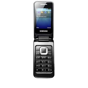 Samsung C3520 Flip Outright Mobile Phone Charcoal NEW