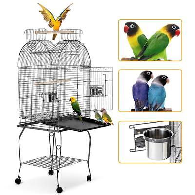 "HOT 55"" Bird Parrot Cage Play Top Macaw Cockatoo Parakeet Conure Finch Cage A4L3"