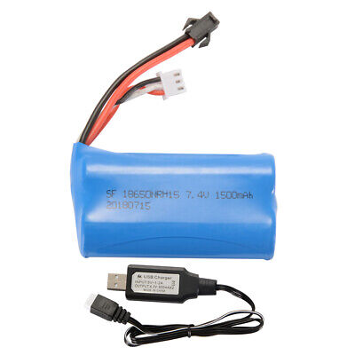 7.4V 1500mAh Battery + USB Charger Cable for Syma Q1 Skytech H101 RC Boat (Skytech Battery)