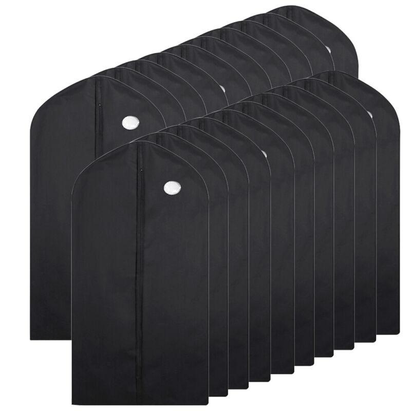20Pc Garment Bag Suit Storage Cover Dress Coat Clothes Dust Protector Breathable