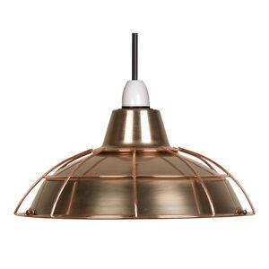 copper lamp shade vintage retro non electric pendant free. Black Bedroom Furniture Sets. Home Design Ideas