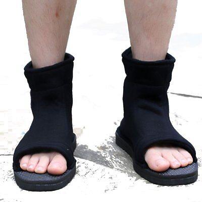 Naruto Sasuke Kakashi Uchiha Sasuke Black Fuu Cosplay Shoes Boots Halloween 42
