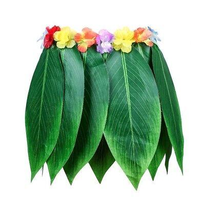 Adult Elastic Hula Grass Skirt Flower Hawaiian Summer Beach Party Fancy Dress