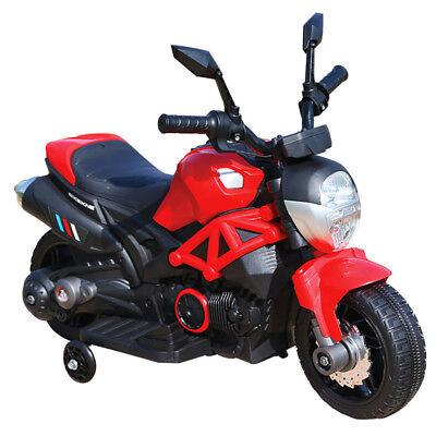 Moto Motocicletta Elettrica per Bambini 6V Kidfun Rossa