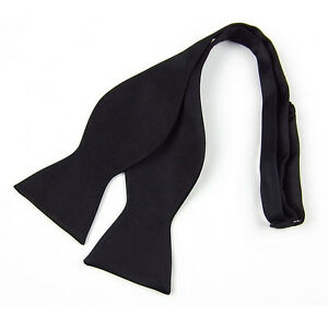 New Black Fashion Adjustable Men's Multi Color Silk Self Bow Tie Necktie Ties