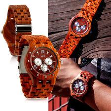 Luxury Wood Watch Wooden Wristwatch Quartz Men