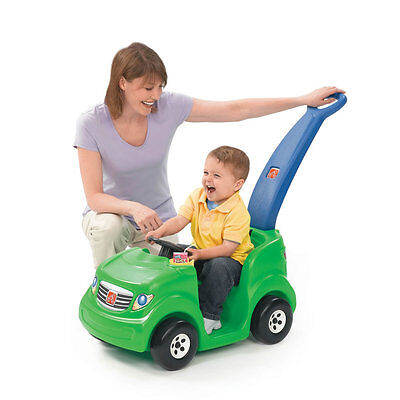 Step2 Push Around Sport Buggy Green Ride Toddler Push Car Cup Holder Horn Sounds