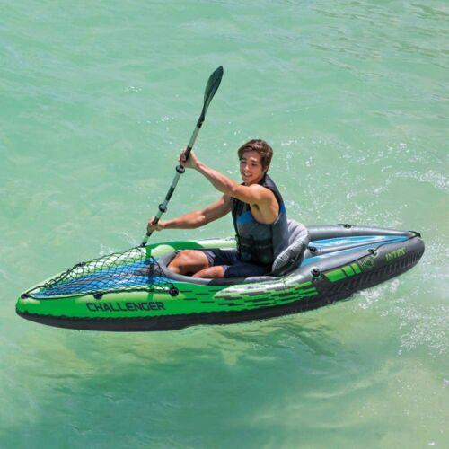 Intex Challenger K1 Inflatable Kayak 1 Person W/ Oars and Pump NEW