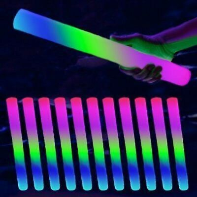 150 PCS Light Up Foam Sticks LED Wands Rally Rave Batons DJ Flashing Glow Stick (Foam Sticks)
