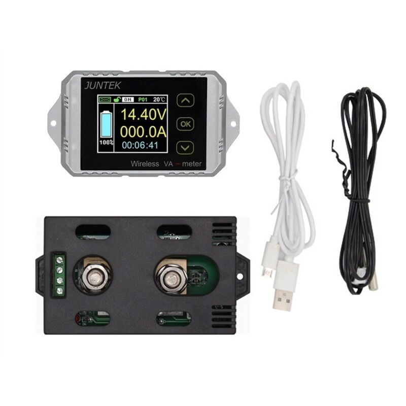 VAT-1200 200A Wireless Voltmeter Ammeter Power Meter Charge discharge capacity