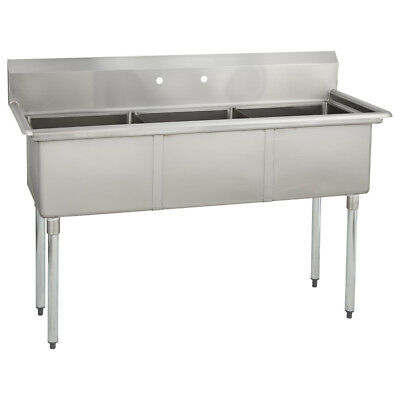 3 Three Compartment Commercial Stainless Steel Sink 53 X 25.8 G