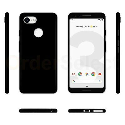 - Ultra Slim Protector Plastic Phone Case BLACK for Google Pixel 3