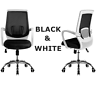 Computer Office Desk Chair Commercial Drafting Task Ergonomic Seat Mesh BLK/WH