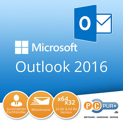 MS Microsoft Outlook 2016 1PC Original 64/32-Bit