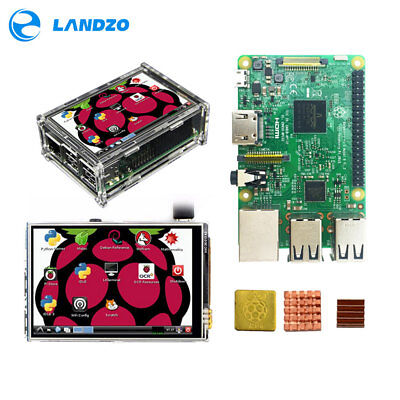 Raspberry Pi 3 Model B Starter, Complete Kits with 3.5 inch display & heat sinks