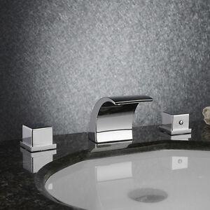 ... Bathroom Waterfall Widespread Face Basin Sink Mixer Faucet DHL eBay