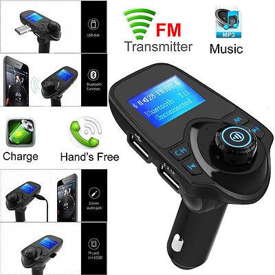 Auto Bluetooth FM Transmitter MP3 Musik Freisprechanlage USB SD TF AUX Ladegerät