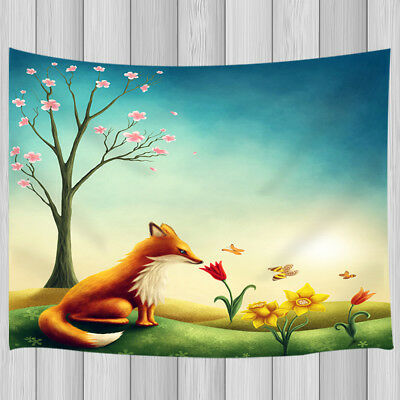 Butterfly Tapestry Wall Hanging - Fox Safflower Butterfly Tapestry Polyester Wall Hanging Living Room Dorm Decor