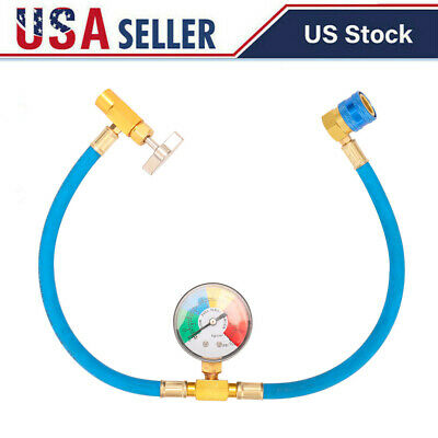 Car Auto Air Conditioner Charging Hose R134a Refrigerant Meter Guage Kit Z3h4